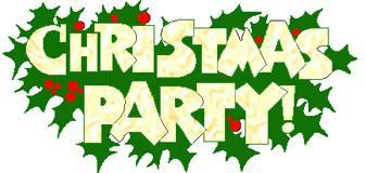 Christmas party sign