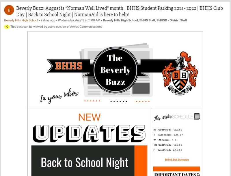 BHHS Newsletter - The Beverly Buzz - August  25, 2021