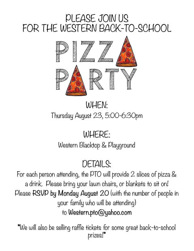 Welcome Back Pizza Party!