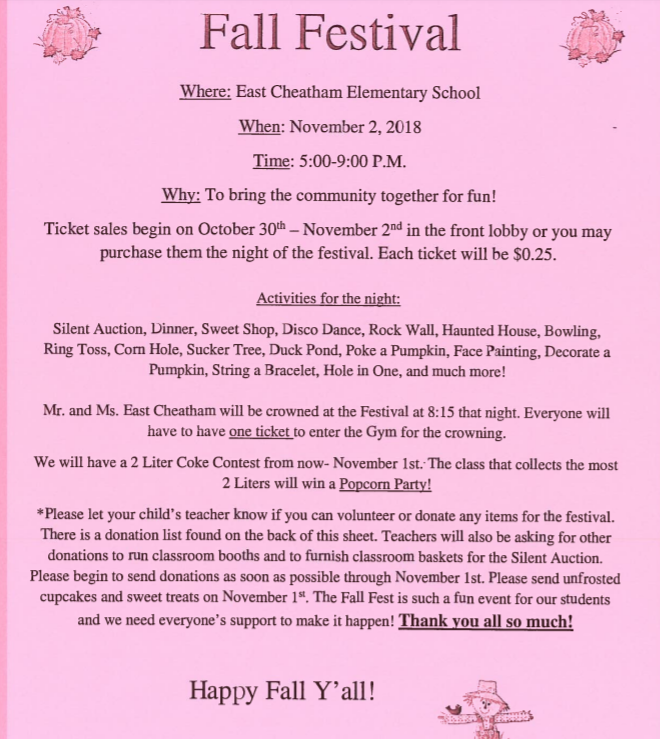 more fall festival information