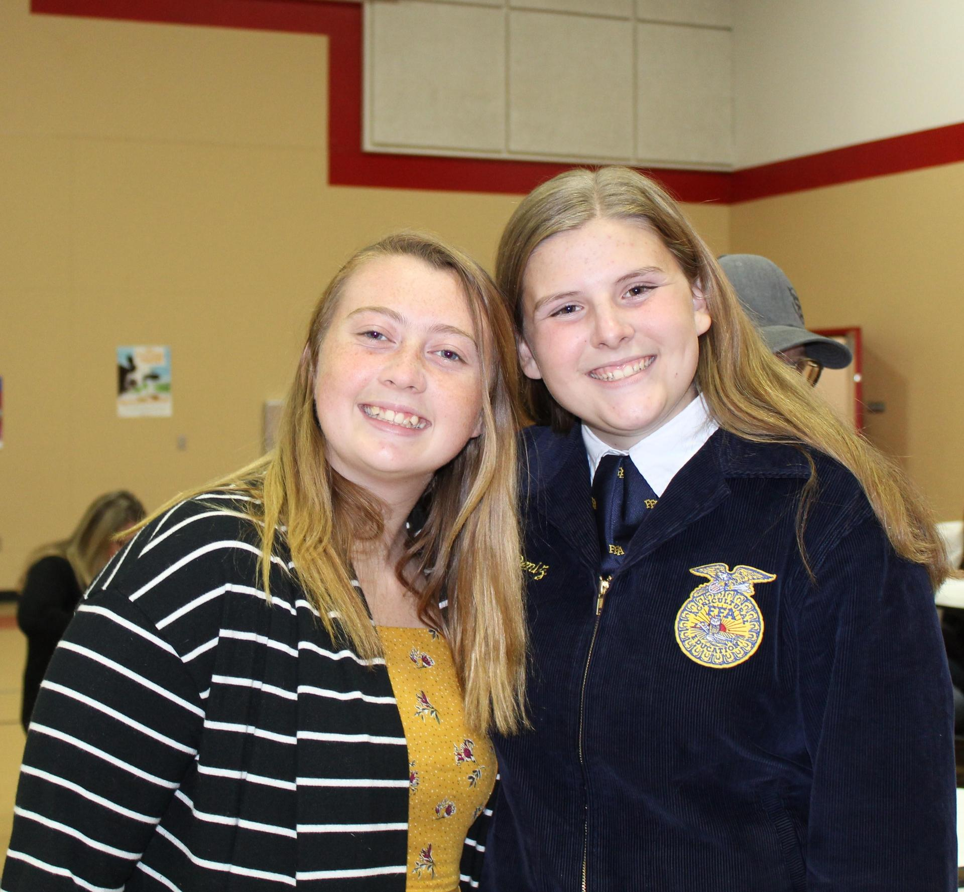 Students at the FFA Greenhand Ceremony.