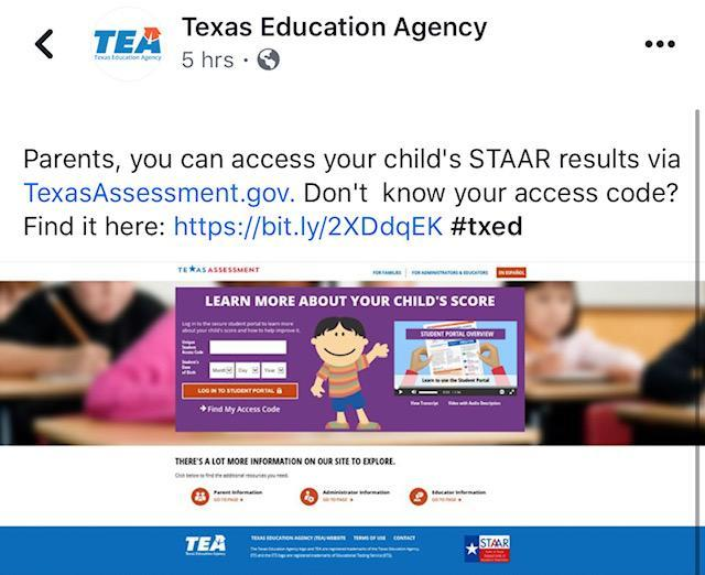 STAAR Scores are now available! Thumbnail Image
