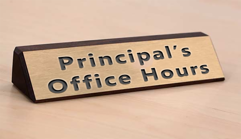 Principal's Virtual Office Hours Featured Photo