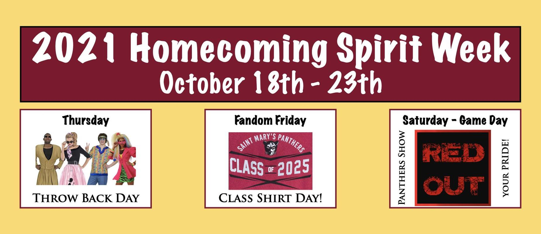 Final Three Days of Homecoming Week Graphic