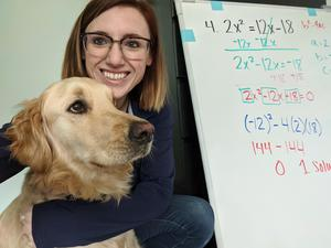 math lesson with rudolph the dog