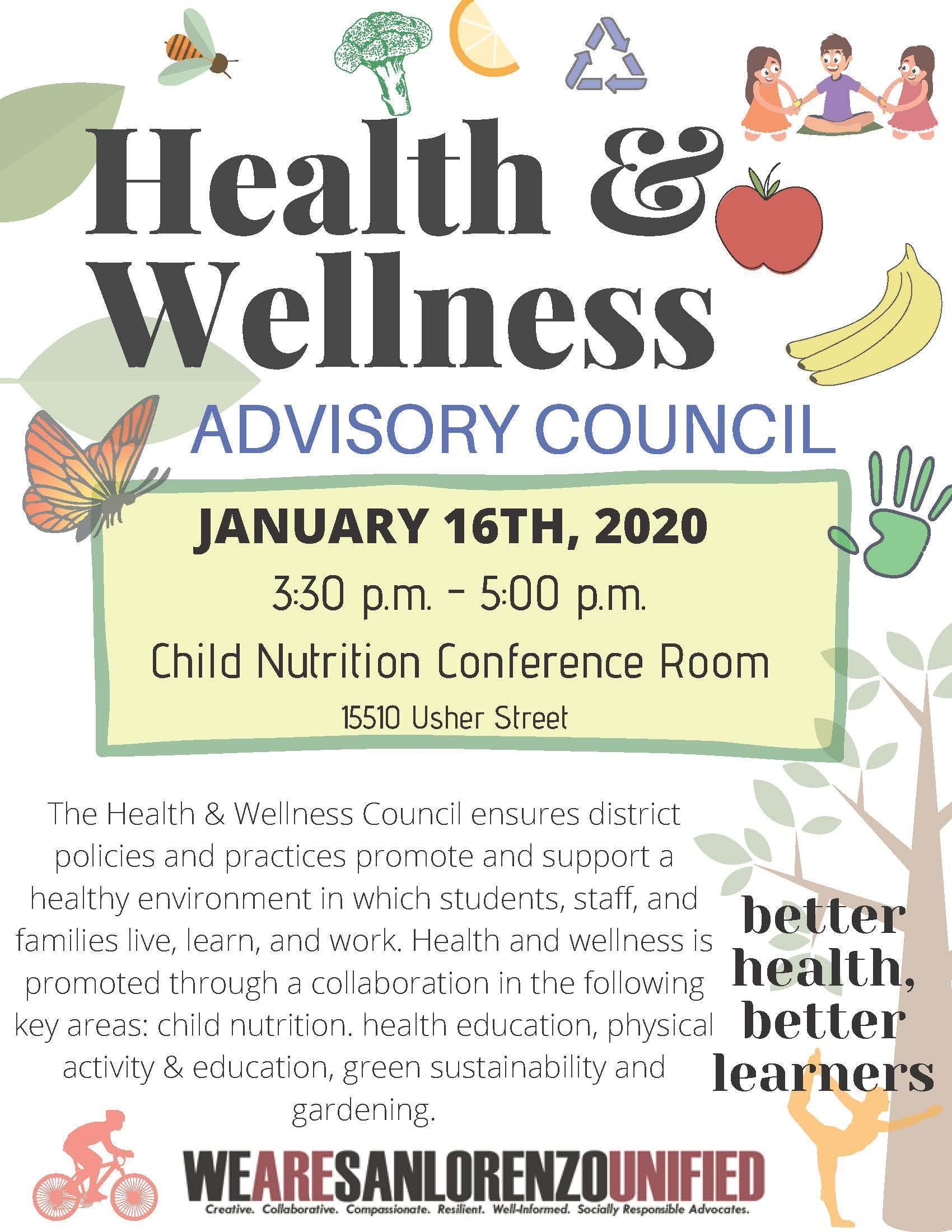 Health and Wellness Advisory Council