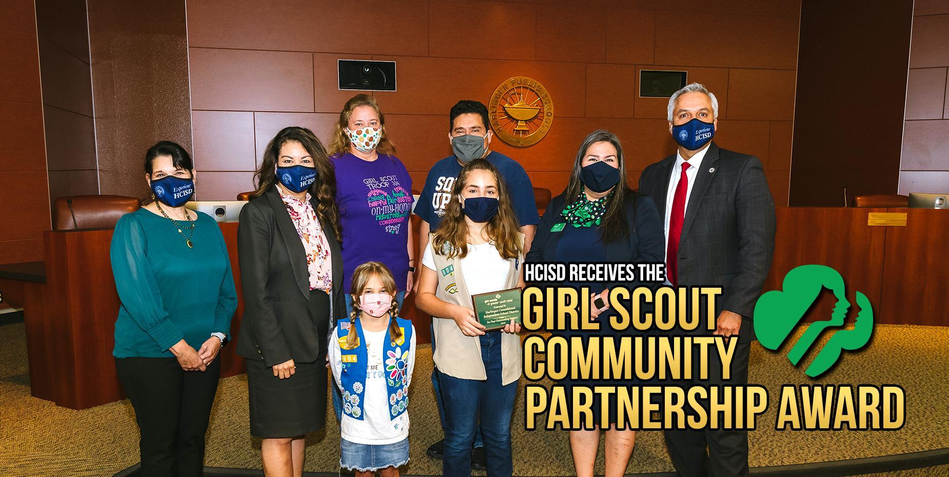 HCISD receives the Girl Scout Community Partnership Award