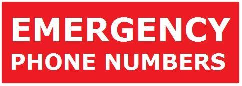 Emergency Contact Phone Listing
