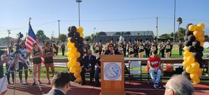 Dolores Rivera, Board President, speaking at ribbon cutting
