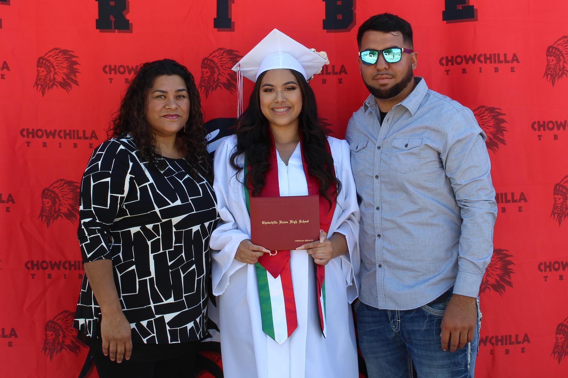 Christina Morales and family