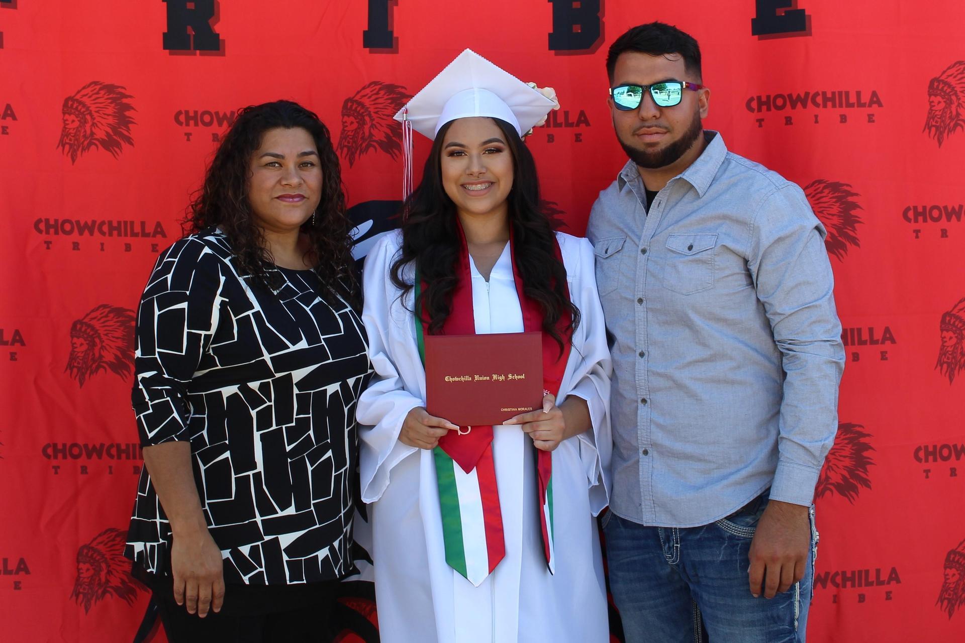 Christina Morales and family