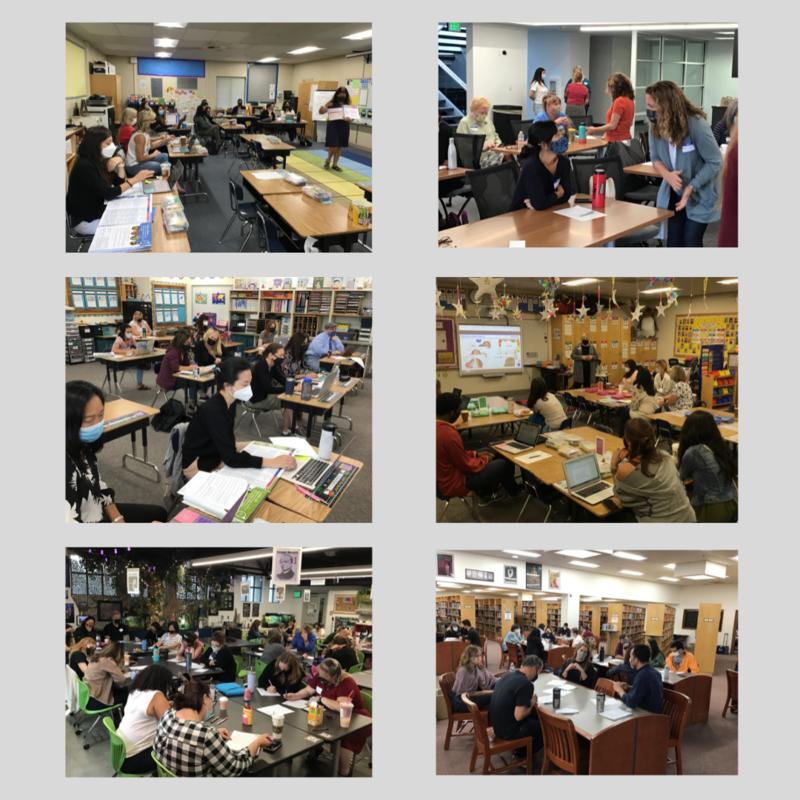 Six photos of professional development