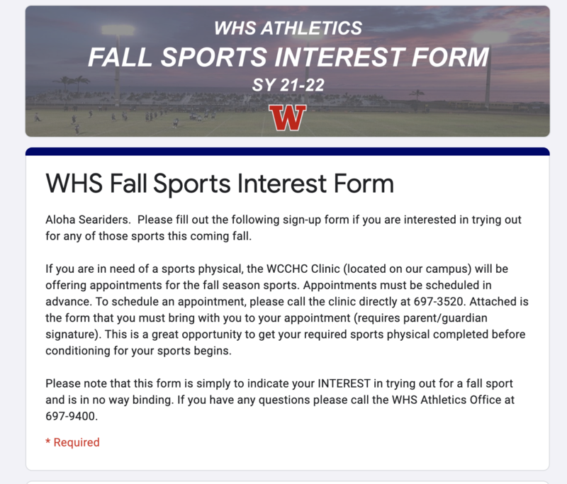 8th grade WIS students interested in playing WHS sports next school year! Featured Photo