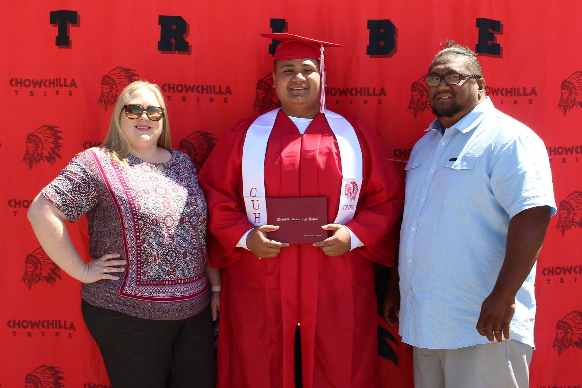 Alfred Laloata and family