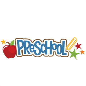 clipart of word preschool