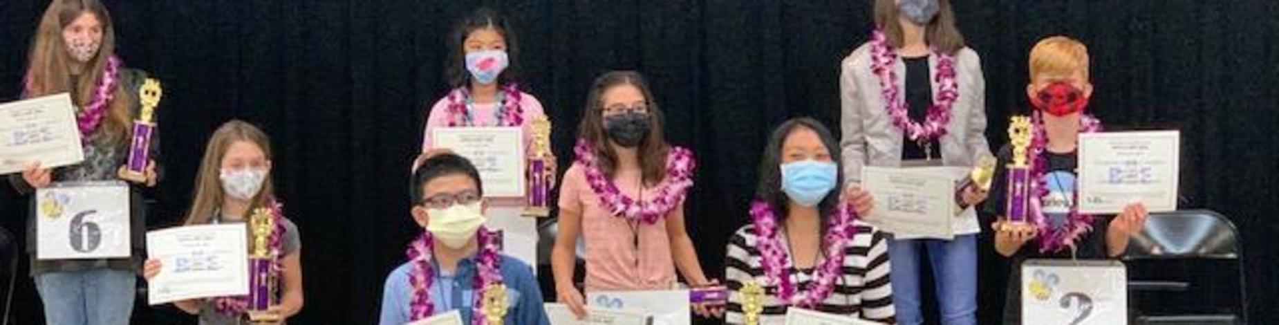 Audrey Jones and Stefhanie Sambrano represented Kilauea School at the Kauai District  Spelling Bee
