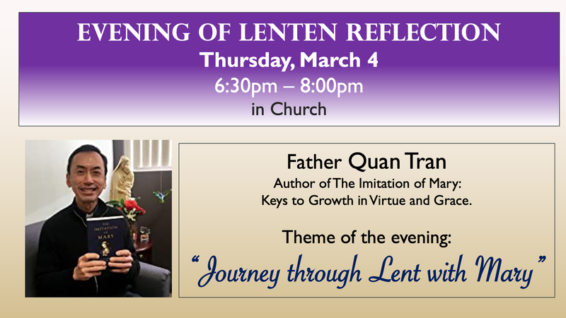 Evening of Lenten Reflection Featured Photo