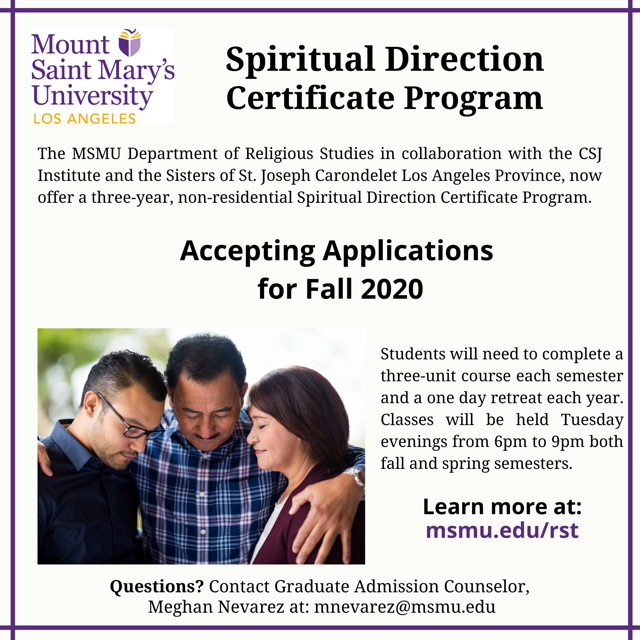 Mt. St. Mary's University Spiritual Direction Program Featured Photo