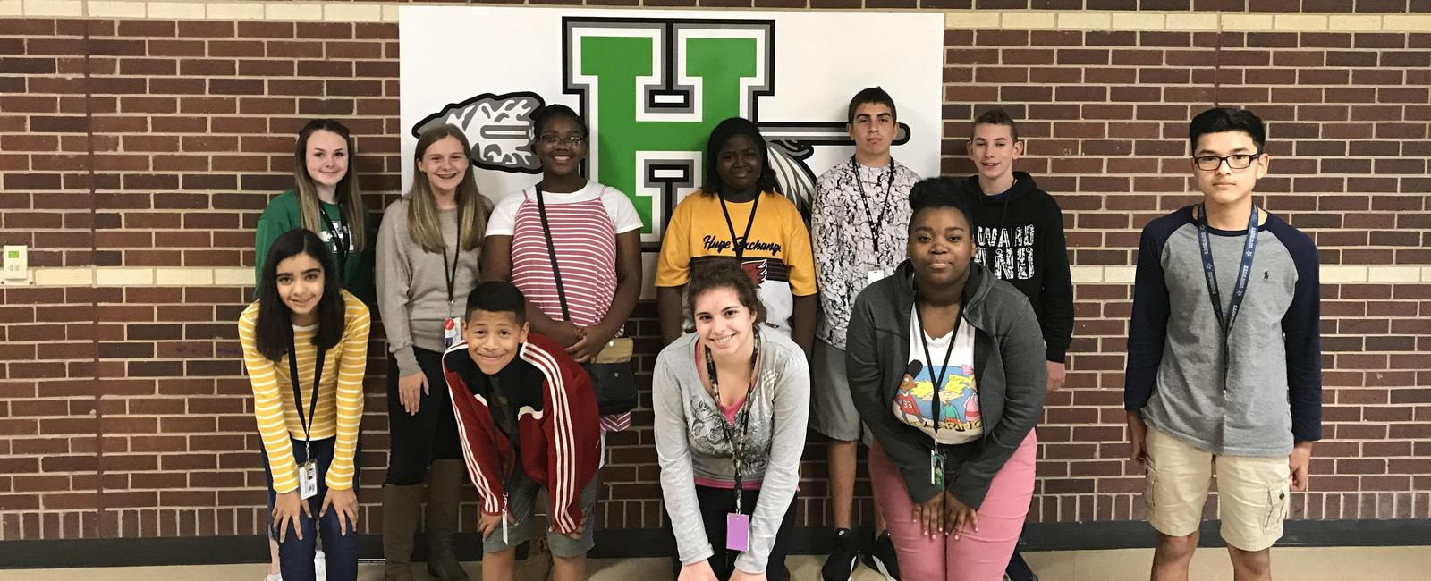 Howard Junior High eighth grade students of the month