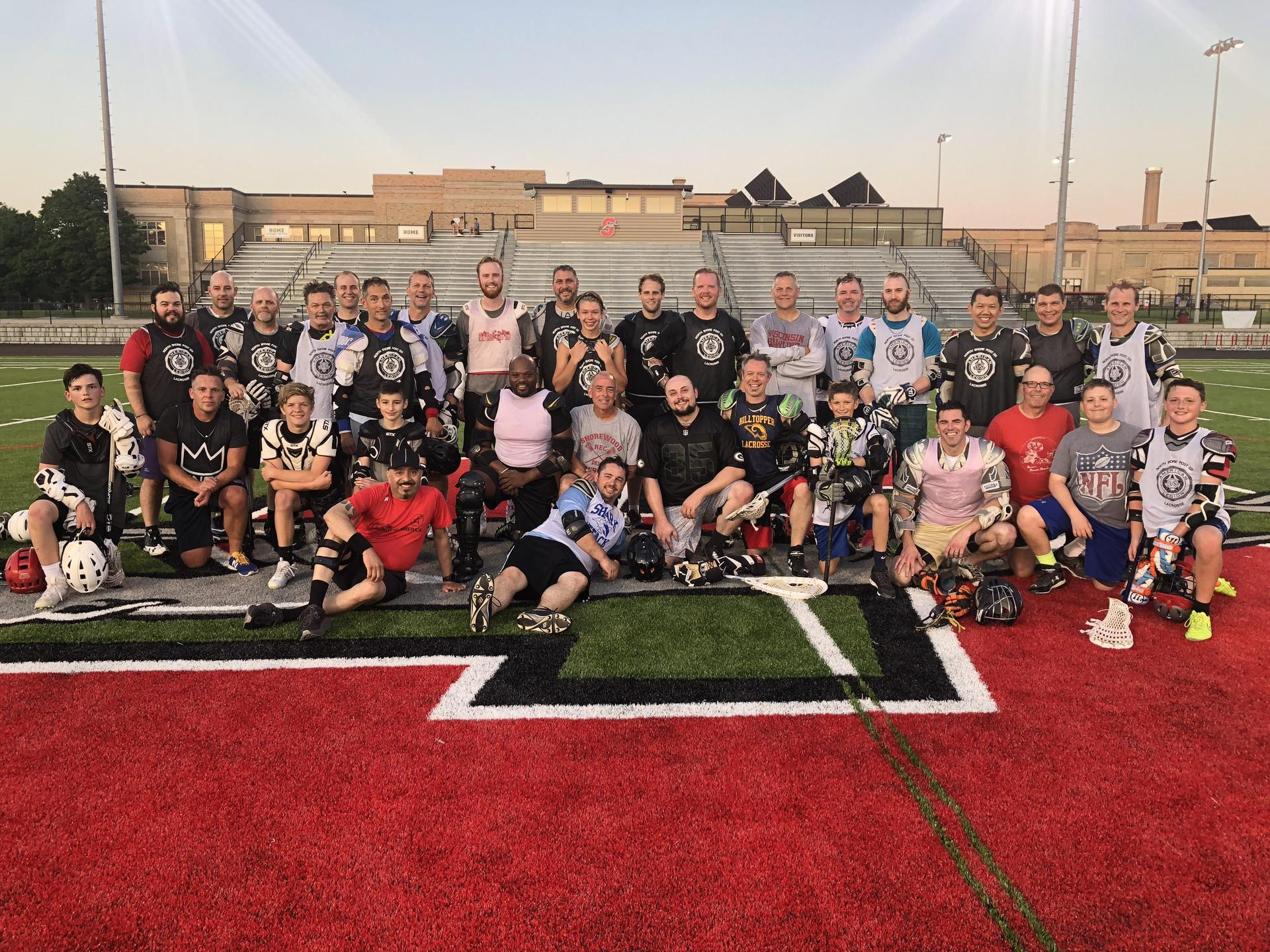 Old Man Lacrosse group picture