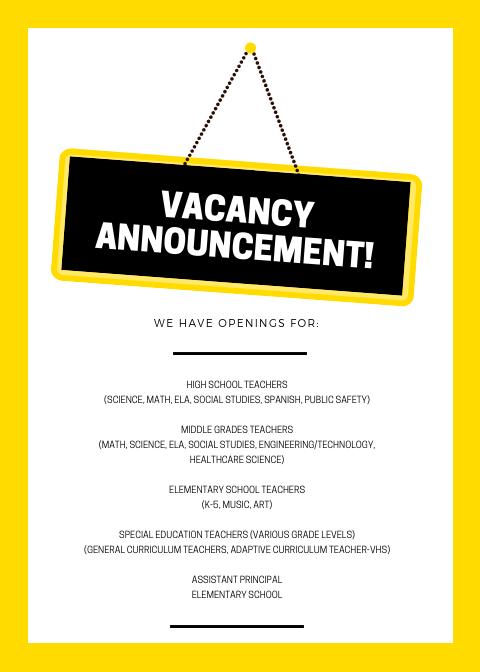 2019 Job Openings