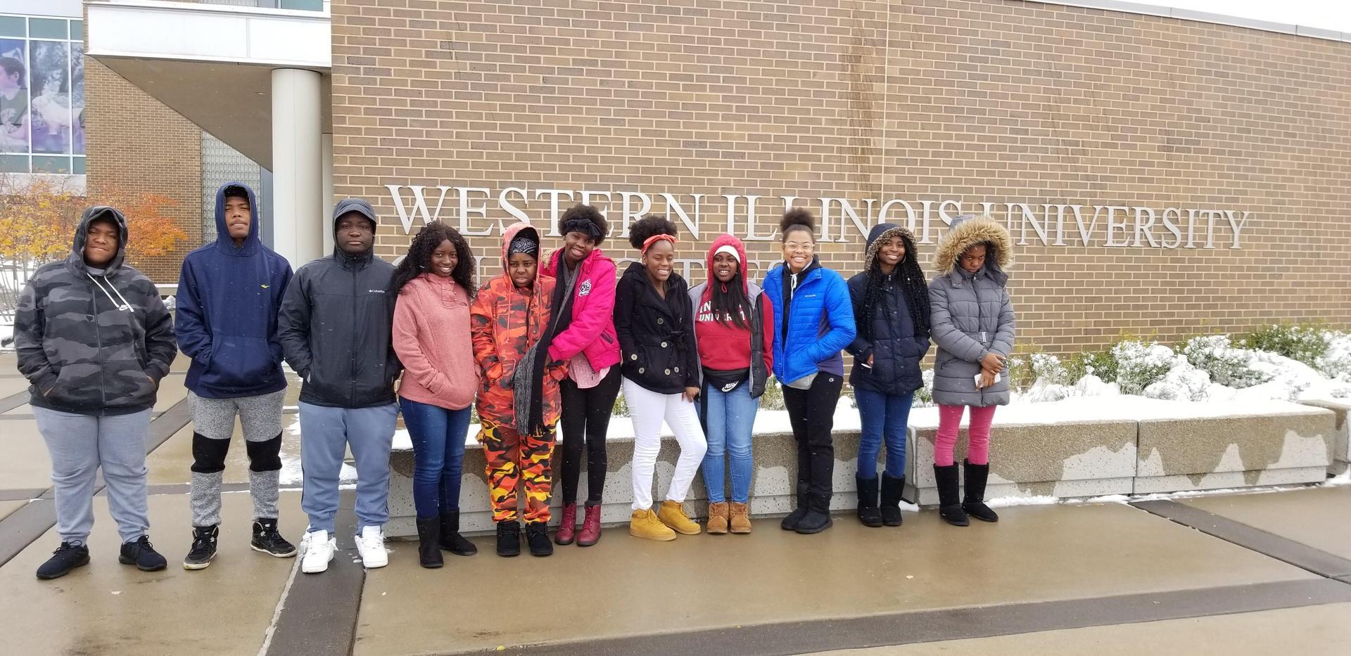 African American Heritage Club visit WIU