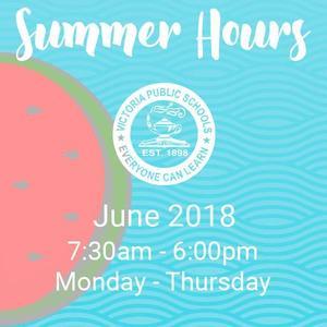 visd summer hours