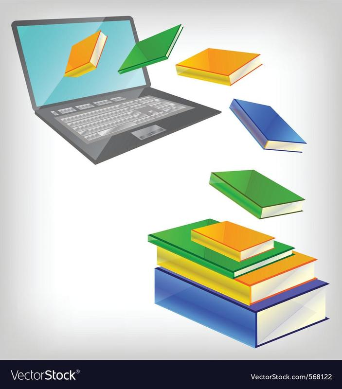 laptop and books image