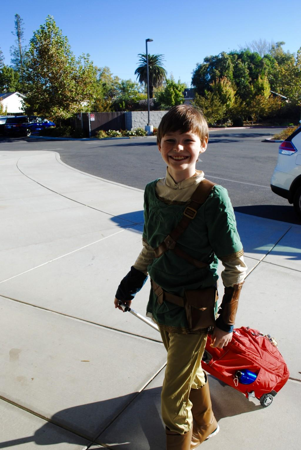 Student dressed up as Robin Hood