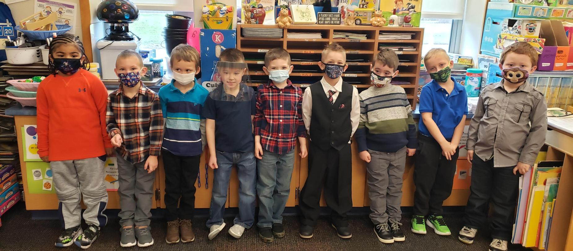 students dressed up for picture day