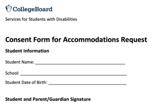 SAT Test Accommodations