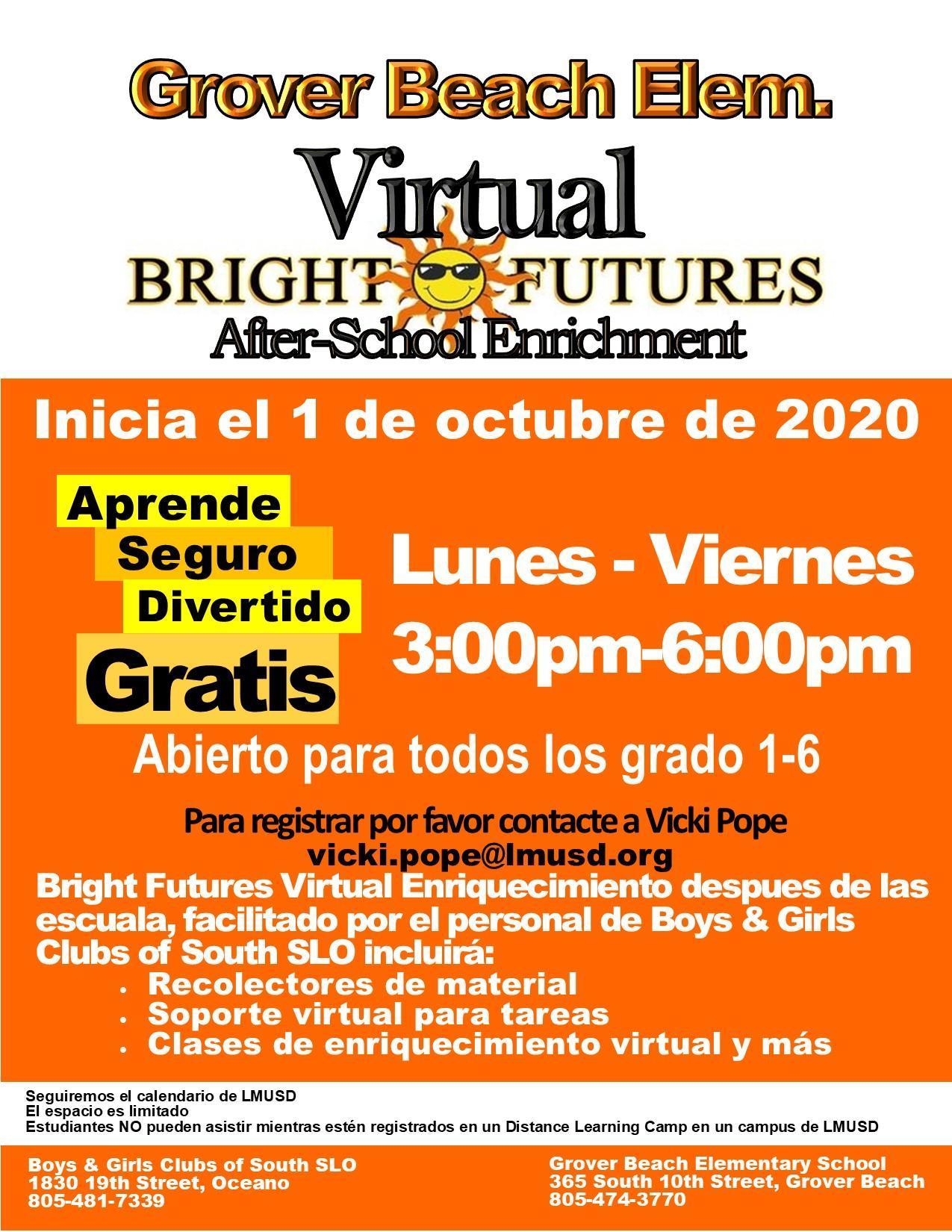 Bright Futures Flyer Español