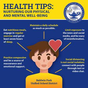 As our communities shelter at home to limit the spread of COVID-19, we can do many things to ensure our physical and emotional well-being.