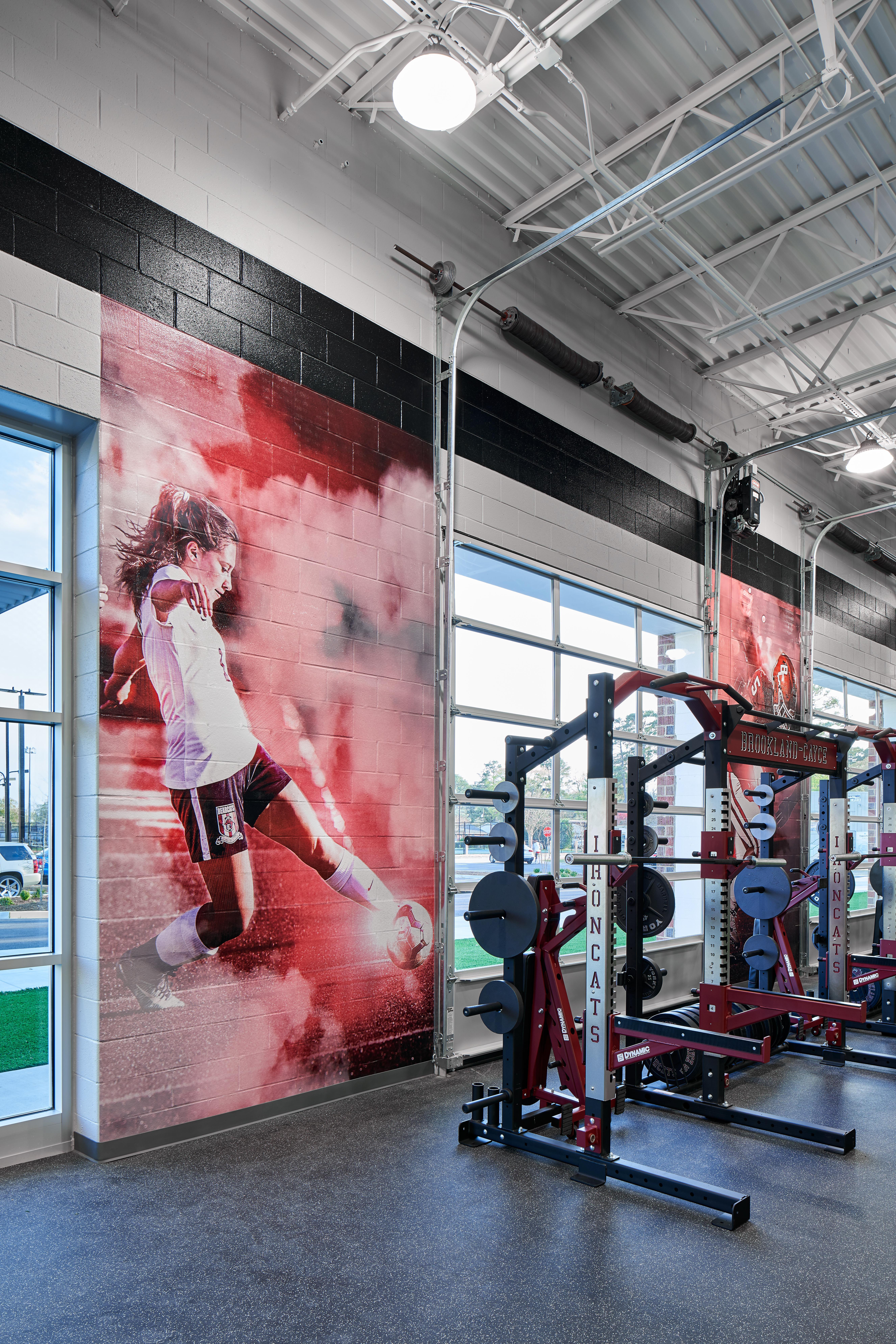 Training Room at new Brookland-Cayce High School Arena