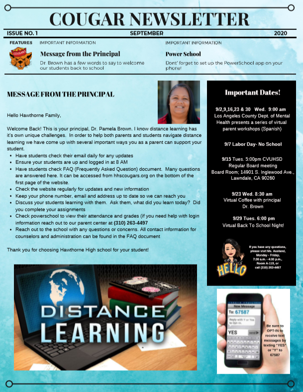 September Newsletter English
