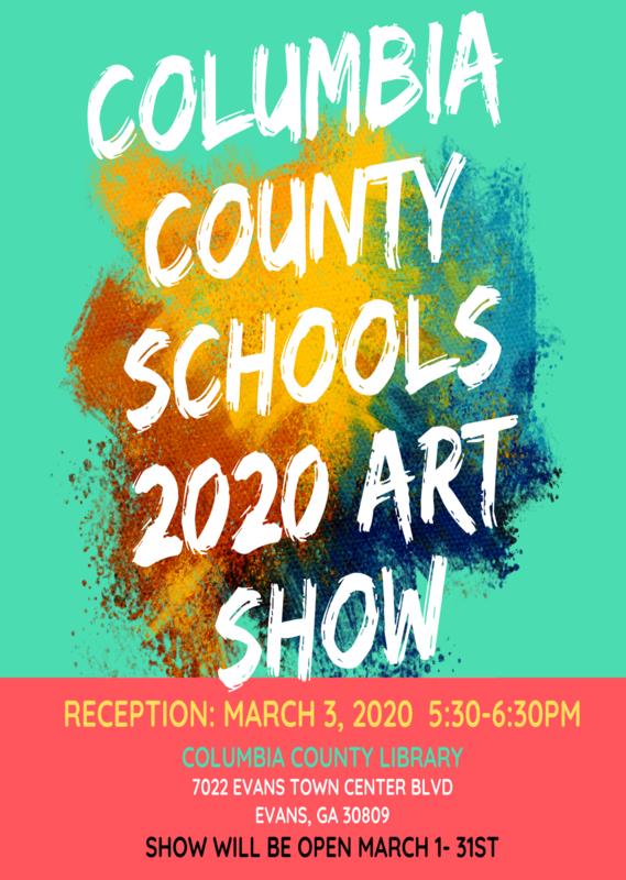 Columbia County Schools 2020 Art School reception poster