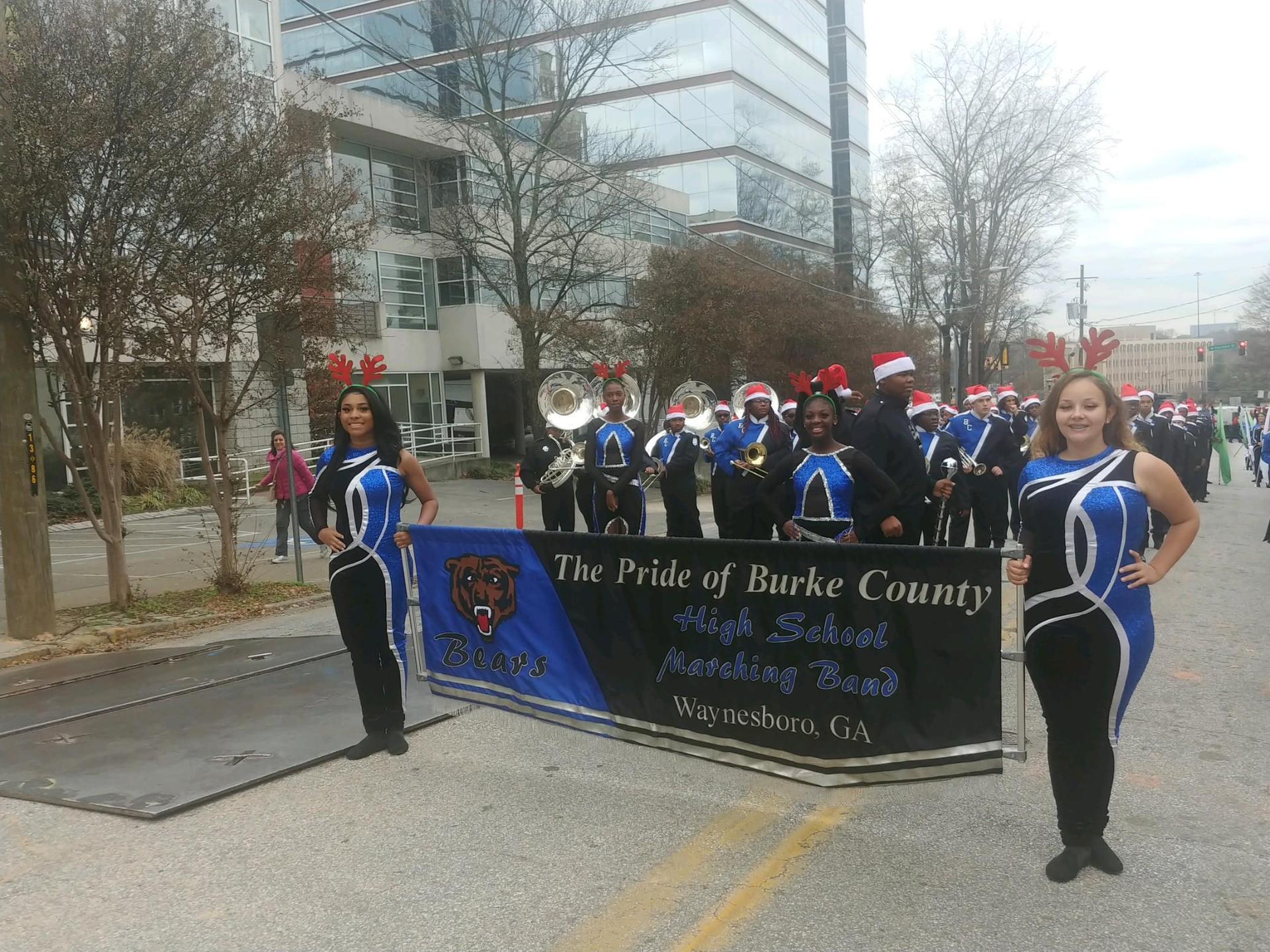 Band at Christmas Parade in Atlanta, Ga.