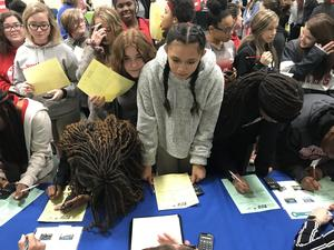 LCSD Reality Fair photo of students
