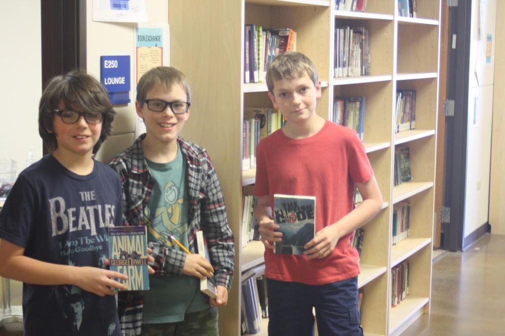 Students are taking advantage of the Lending Library.