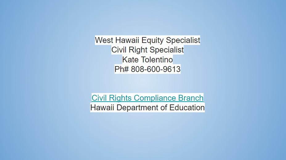 Equity Specialist