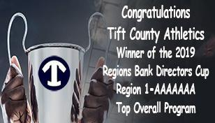 Tift County Athletics Wins the Region's Bank Director's Cup for Top Overall Program in Region 1-7A Featured Photo