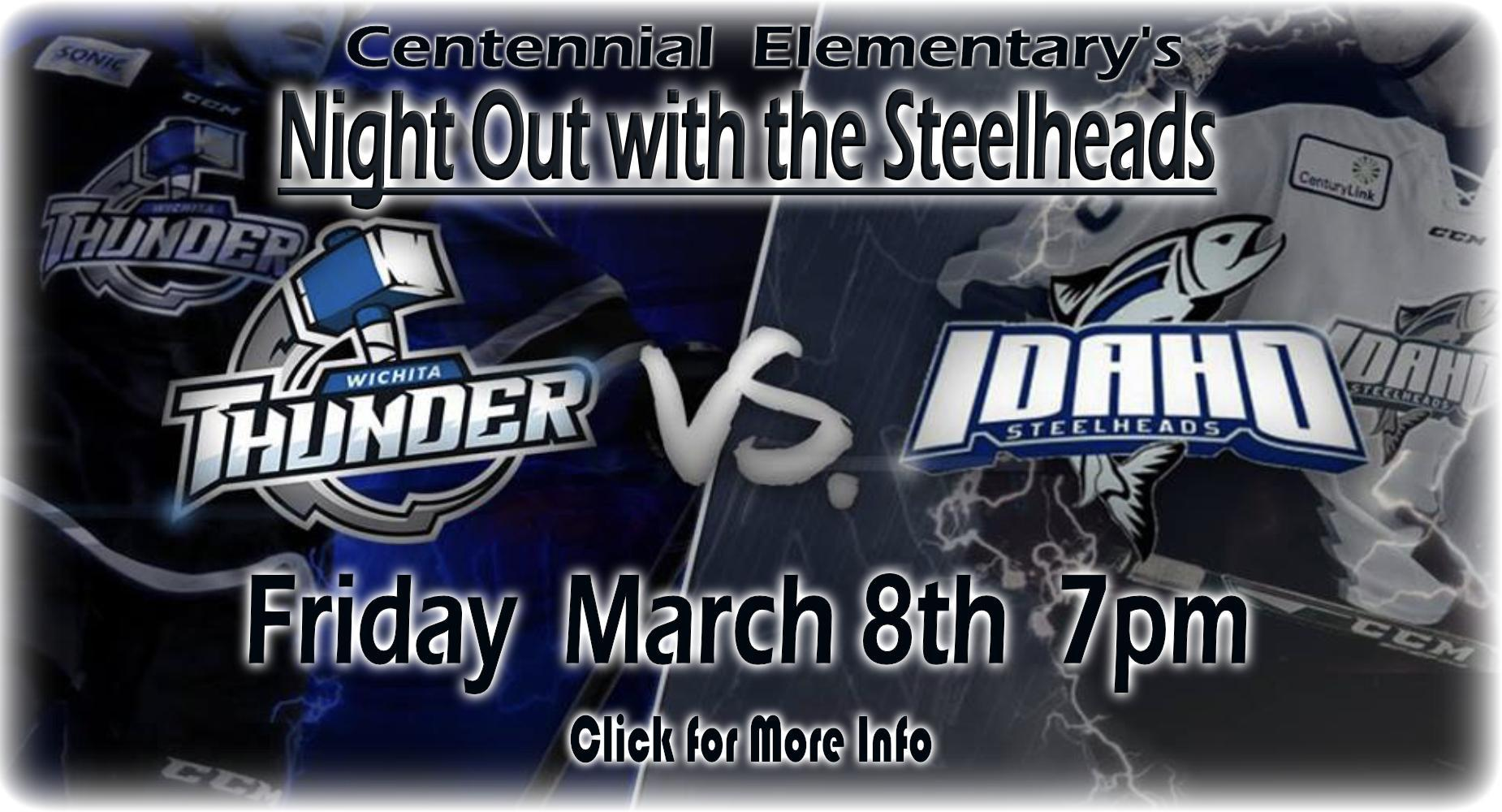 Night Out with the Steelheads - March 8th 7pm