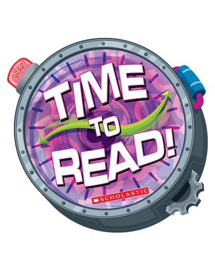 Time machine logo for book fair