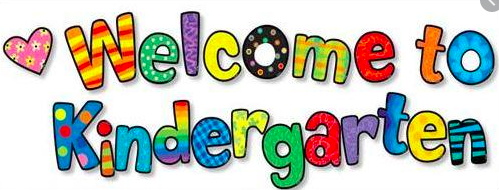 colorful letters reading welcome to kindergarden