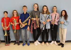 Gananda's 7th and 8th Grade All-County Band Members for 2019