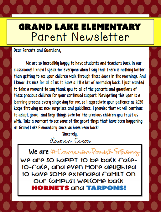 Check out our newsletter!