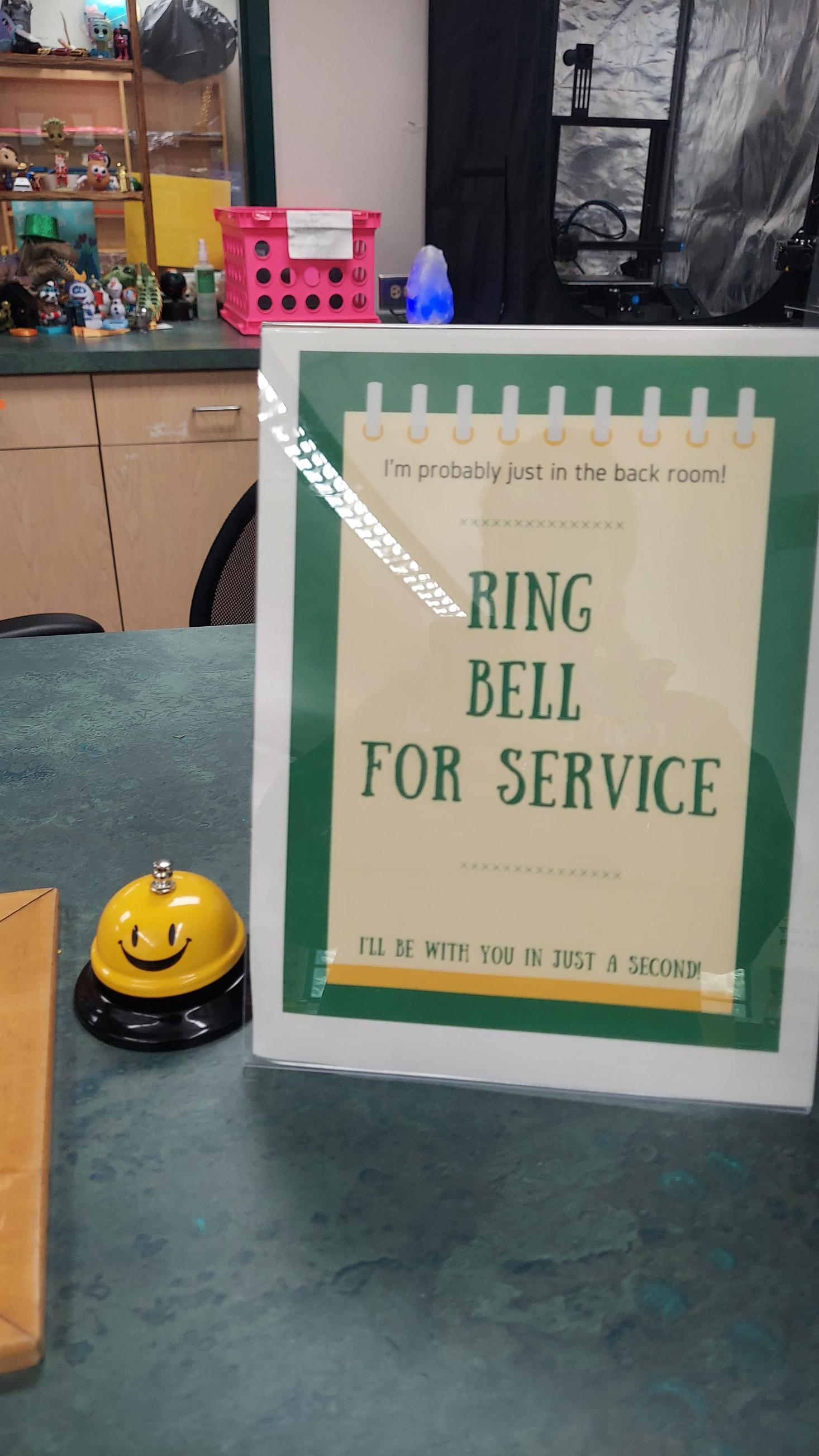 Ring bell for service!