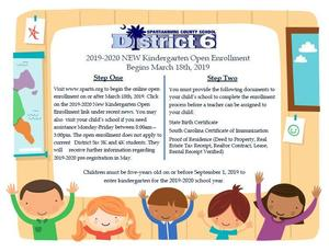 Flyer for Kindergarten