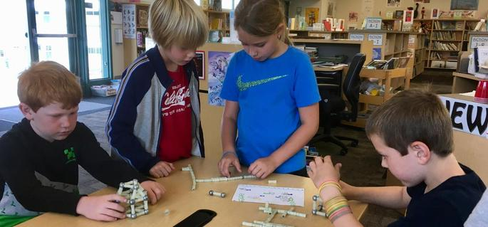 Students working with magnets