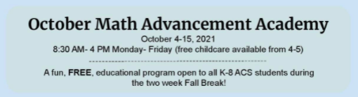 October Math Advancement Academy offered by the MHCMC Thumbnail Image